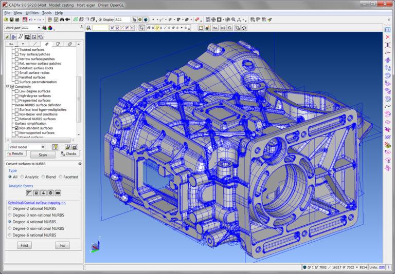 CADfix 9.0 SP2.0 64bit Model: casting
