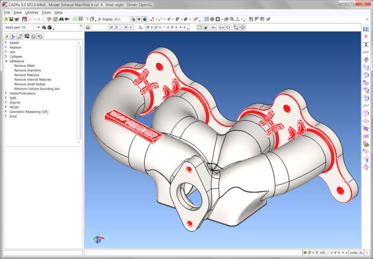 CADfix 9.0 SP2.0 64bit Model: Exhaust Mnifold 4 cyl