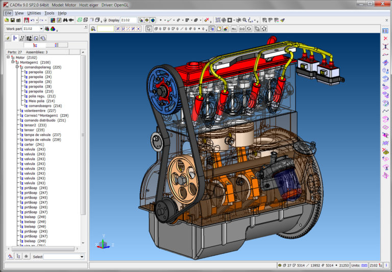CADfix 9.0 SP2.0 64bit Model: Motor