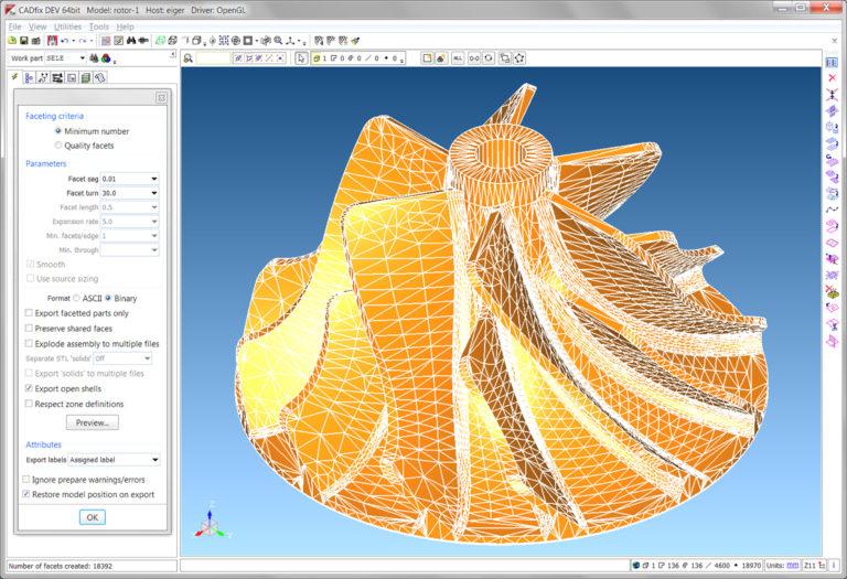 CADfix 9.0 SP2.0 64bit Model: rotor-1